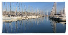 Sailboat Reflections Beach Towel