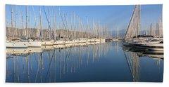 Sailboat Reflections Beach Sheet