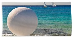 Beach Towel featuring the photograph Sailboats Racing In Cozumel by Mitchell R Grosky