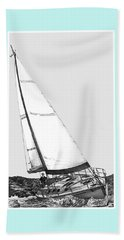 Sailing Freedom On A Reach Beach Towel