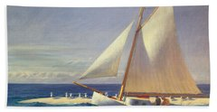 Sailing Boat Beach Sheet by Edward Hopper