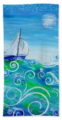 Sailing By Jan Marvin Beach Towel