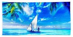Sailing Beach Towel