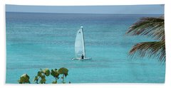 Beach Towel featuring the photograph Sailing by David S Reynolds