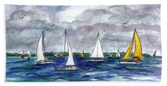 Sailing Day Beach Towel