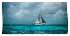 Sailing In Blue Belize Beach Sheet
