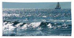 Sailing Beach Towel by Mike Ste Marie