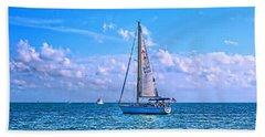 Sailing Off Of Key Largo Beach Sheet