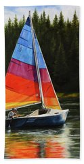 Sailing On Flathead Beach Towel
