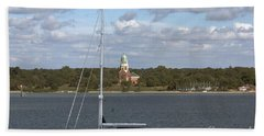Sailing Past Netley Beach Towel