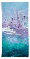 Sailing South - Sold Beach Towel by George Riney