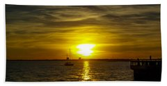 Sailing The Sunset Beach Towel