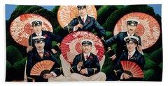 Sailors With Umbrellas Beach Towel