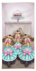 Beach Towel featuring the painting Saint Cupcakes by Catia Lee