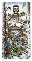 St. Francis And The Birds Beach Towel