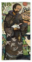 Saint Francis Beach Towel