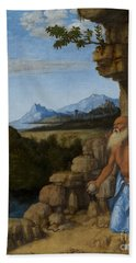 Saint Jerome In The Wilderness Beach Towel