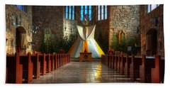 Saint Josephs Apache Mission Beach Towel by Bob Christopher