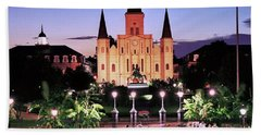 Saint Louis Cathedral New Orleans Beach Sheet by Allen Beatty