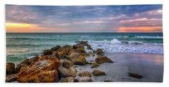 Saint Pete Beach Stormy Sunset Beach Towel