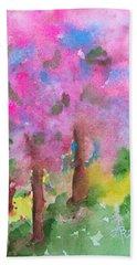 Sakura Beach Towel by Anna Ruzsan