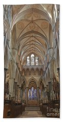 Salisbury Cathedral Quire And High Altar Beach Towel