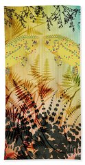 Beach Towel featuring the digital art Salmon Love Gold by Kim Prowse