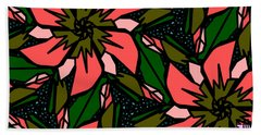 Beach Towel featuring the digital art Salmon-pink by Elizabeth McTaggart