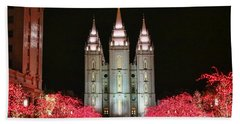 Beach Towel featuring the photograph Salt Lake Temple - 1 by Ely Arsha