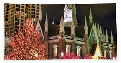 Beach Towel featuring the photograph Salt Lake Temple - 3 by Ely Arsha
