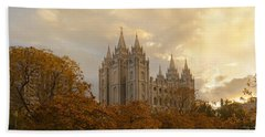 Beach Towel featuring the photograph Salt Lake Temple Ultra High Resolution by Dustin  LeFevre