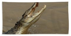 Salt Water Crocodile Australia Beach Sheet by Bob Christopher