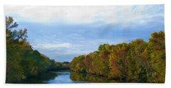 Saluda River In The Fall Beach Sheet