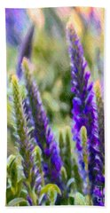 Salvia Sway Beach Towel by Jean OKeeffe Macro Abundance Art