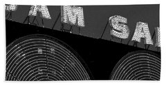 Sam The Record Man At Night Beach Towel