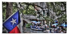 San Antonio Flag Beach Sheet by Deborah Klubertanz