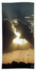 Beach Towel featuring the photograph San Antonio Sunset by Peter Piatt