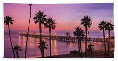 San Clemente Sunset Meditation Beach Towel