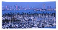 San Diego Twilight Beach Towel