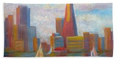 San Francisco Reflections Beach Towel