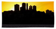 San Francisco Silhouette Beach Towel by Kate Brown