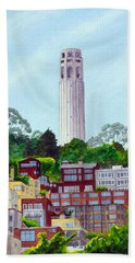 San Francisco's Coit Tower Beach Towel