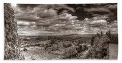 San Gimignano View Beach Towel
