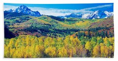 San Juan Mountains, Colorado, Usa Beach Towel