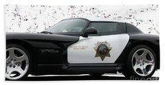 San Luis Obispo County Sheriff Viper Patrol Car Beach Towel