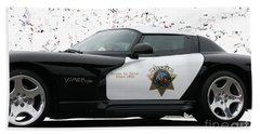 San Luis Obispo County Sheriff Viper Patrol Car Beach Sheet