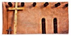 Santuario Four Crosses Beach Towel by Lanita Williams