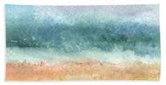Sand And Sea Beach Towel by Linda Woods