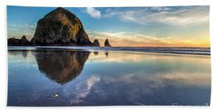 Sand Dollar Sunset Repose Beach Towel