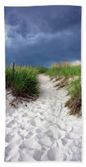 Sand Dune Under Storm Beach Towel